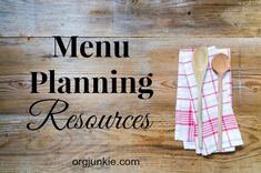MENU PLANNING RESOURCES (Links) - To assist you with your menu planning and to make it as easy as possible for you, I've compiled a list below of recipe sites and other online menu planning resources that I think you will find helpful.