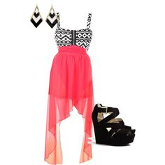 """high low skirt :)"" by maddymae69 on Polyvore"