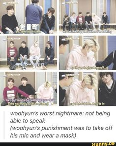 Woohyun's worst nightmare: not being able to speak | Infinite