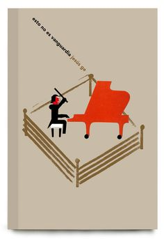 #LIBROS #ILUSTRACION #ILLUSTRATION #VERKAMI #CROWDFUNDING - Portada  by @Milimbo Libros de ESTO NO ES VANGUARDIA, libroCD de Jesús Ge. Los recitales poéticos de Jesús Ge combinan la fuerza escénica de los rapsodas y trovadores antiguos con la contundencia de la poesía comprometida de finales del siglo XX. Por otro lado, sus juegos y acrobacias verbales invitan a la risa y a la comedia. En este libroCD se recoge parte de su trabajo. policia porra piano antidisturbios +INFO…