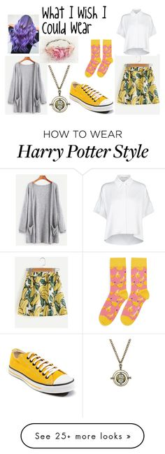 """What I wish I could wear"" by oreodonutcat on Polyvore featuring Alice + Olivia, Warner Bros., Converse and Happy Socks Harry Potter Characters, Happy Socks, Warner Bros, Alice Olivia, Converse, Polyvore, How To Wear, Stuff To Buy, Shopping"