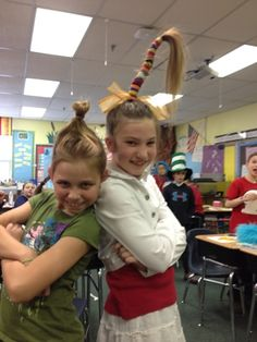 LOVE the hair...definitely using for Wacky Wednesday next year!