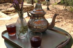 tea after lovely open-air massage at eco-resort can marti on ibiza