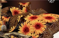 Sunflower Tapestry With Lights
