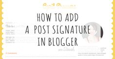 I've got a quick and easy Blogger tutorial for you today. Here's how to add a signature, social media links or anything you like automatically to the bottom of every post. Click into Se… Blogger Tutorial, Web Design, Graphic Design, Successful Business, Nerdy, Blogging, English, Social Media, Ads