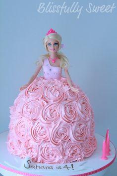 Image detail for -Blissfully Sweet: A Barbie Buttercream Birthday Cake Barbie Birthday Cake, Princess Birthday, Princess Party, Birthday Cakes, Barbie Party, 11th Birthday, Birthday Ideas, Buttercream Birthday Cake, Buttercream Roses
