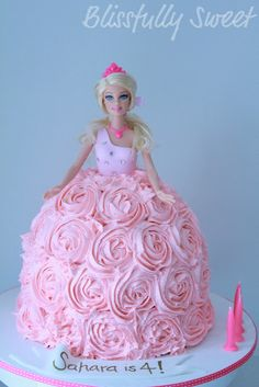 buttercream Barbie cake