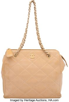 8f5e05dcc4fc Chanel Beige Quilted Caviar Leather Shoulder Bag. Condition:4. | Lot #58250  | Heritage Auctions