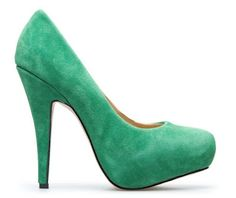 #green #pumps #shoes