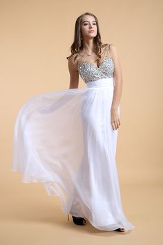 Big Discount V Neck Prom Dress Color:Just As Picture Show,Size:M L #61301