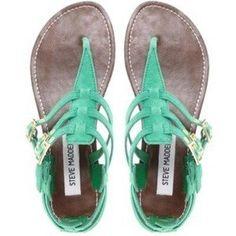 Sea Green Sandals Steve Madden