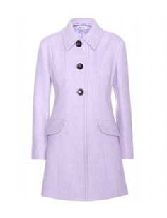 Miu Miu embody the brand's elegant aesthetic with this ladylike coat in a saccharine pastel hue. Work this light purple coat into your capsule collection by pairing with everything from blue denim to black tailoring and pretty dresses. Clever panelling gives an hourglass silhouette for a flattering style.