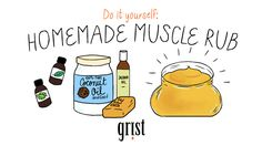 On the sixth day of DIY Christmas, whip up a batch of homemade muscle rub.