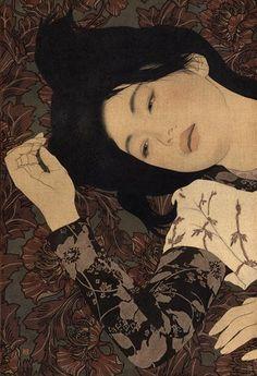 Ikenaga Yasunari - Japanese Illustration - Nihonga Style - Shima