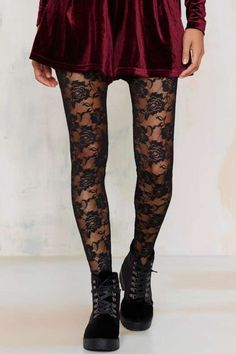 Look From London Nice Stems Lace Tights