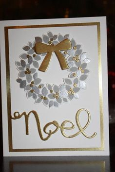 Silver Wreath by Michelle Clarke (SK.CDN), smokey slate, silver and gold on this card