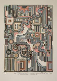 Calcium Light Night: Four German Songs - Eduardo Paolozzi - Prints Abstract Pattern, Abstract Art, Eduardo Paolozzi, Artist Aesthetic, Aesthetic Fashion, Tate Gallery, A Level Art, Inspirational Wall Art, Heart Art