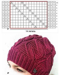 Beautiful pattern for a hat. Crochet Hat Sizing, Crochet Hat With Brim, Crochet Diy, Knitted Hats, Crochet Hats, Knitting Paterns, Lace Knitting, Crochet Designs, Crochet Patterns