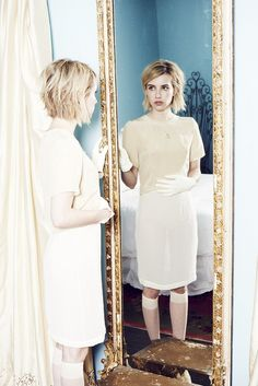 Love her choppy bob 16 Pin-Worthy Images From Elkin's New Lookbook with Emma Roberts via @WhoWhatWear
