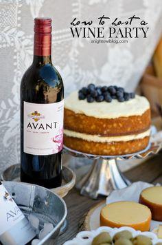Great ideas on how to host your own wine party! via @anightowlblog #DIY #KJAVANT