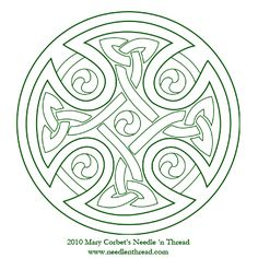 Free-Hand Embroidery Pattern: Celtic Cross