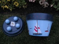 Etsy の Sail Boat Flower Pot by bubee