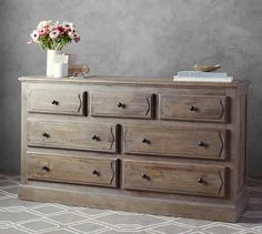 Linden Wood Paneled Extra-Wide Dresser | Pottery Barn
