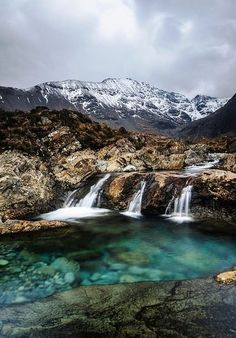 Fairy Pools, Isle Of Skye, Scotland. DEN Dave Nichols family is from Isle of Skye and the clan McNichols. Places Around The World, The Places Youll Go, Places To See, Dream Vacations, Vacation Spots, Jamaica Vacation, Vacation Ideas, Places To Travel, Travel Destinations