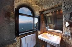 The view from Rock Suite's bathroom.
