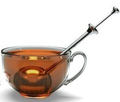 Long-Handled Tea Strainers - Tea Infuser - By Schefs - Stainless Steel - Large Capacity Ball with Long Spoon Handle - Perfect for Loose Leaf Tea - Allows Better Water Flow Than a Traditional Mesh Infuser     link: