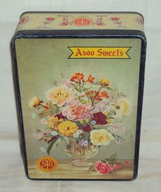 Vintage Asoo Sweets Tin Litho Box Circa 1970's Collectibles | eBay