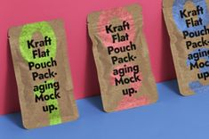 A set of kraft psd packaging pouch mockup to showcase your product designs in style. Easily add any graphics thanks to... Pouch Packaging, Modern Website, Letterhead, Website Template, Invitation Cards, Free Design, Stationery, Lettering, Templates