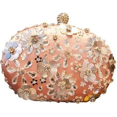 TOOKY Handmade Flower Crystal HandBag Clutch Evening Bag Dinner Bag ($38) ❤ liked on Polyvore featuring bags, handbags, clutches, flower purse, handbag purse, handbags clutches, evening handbags and flower clutches