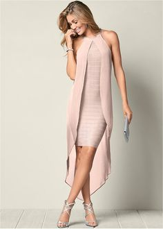 Bandage Dress in Light Pink Elegant Dresses, Women's Dresses, Beautiful Dresses, Evening Dresses, Awesome Dresses, Summer Dresses, Peach Dresses, Satin Dresses, Pretty Dresses