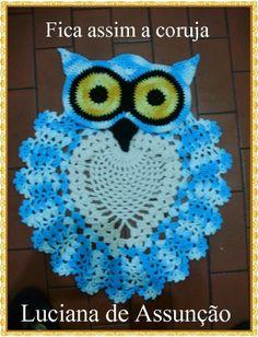 Tapete de coruja em crochê - PAP /// Owl rug - crochet tutorial
