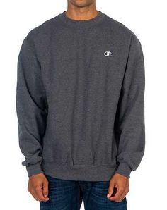 #FashionVault #champion #Men #Tops - Check this : CHAMPION MENS Dark Grey Clothing / Sweatshirts XL for $19.99 USD