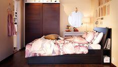 Sängynalustila käytetty hyödyksi laatikoille