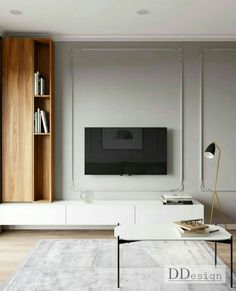 Classic Living Room, Nordic Living Room, My Living Room, Home And Living, Living Room Decor, Living Room With Fireplace, Modern Scandinavian Interior, Modern Home Interior Design, Classic Interior