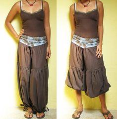 Good day pants...Dark Brown M-XL. $39.00, via Etsy.