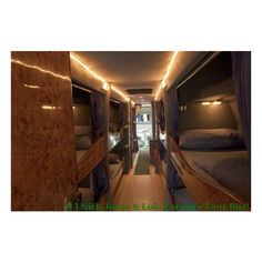 (c) Nick Jonas & Lola Larson's Tour Bus! ❤ liked on Polyvore featuring places, tour bus and home