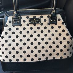 Auth. Kate Spade Polkadot bag (New) Kate spade never used polka dot handbag. Sold out everywhere. kate spade Bags Shoulder Bags
