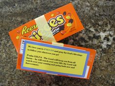 Scripture candy gift ideas for graduating 5th graders going to the teen program