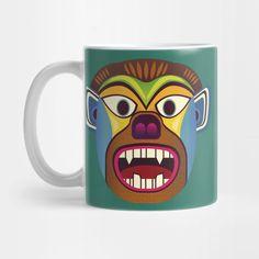 Gorilla ethnic mask coffee mug