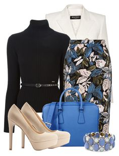 Out of the Blue by ljbminime on Polyvore featuring polyvore fashion style Dsquared2 Balmain Qupid Prada Chico's