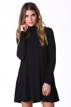Dance With Me Mini Swing Dress in Black | Necessary Clothing