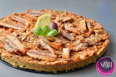 Brokkoli pizza (paleo brokkoli pizza recept) ~ Éhezésmentes Karcsúság Szafival Broccoli Pizza, Apple Pie, Lunch, Dinner, Paleo Pizza, Health, Desserts, Food, Diet