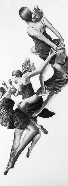 Leah Yerpe | Pavo | 18 x 50 Inches | Graphite and Ink on Paper | 2012