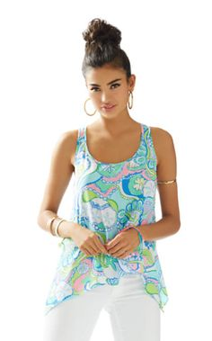 60bcc8ef217b Sarina Tank in Conch Republic Lilly Pulitzer Tops