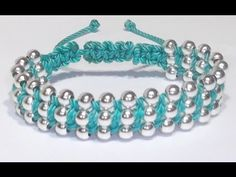 DIY Easy Wave Bracelet with Satin Cord and Beads - YouTube