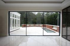 See The Way Sliding Doors Slide Over Corner Wall Garden